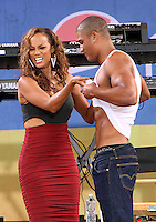 Tyra Banks and Rob Evans at Good Morning America