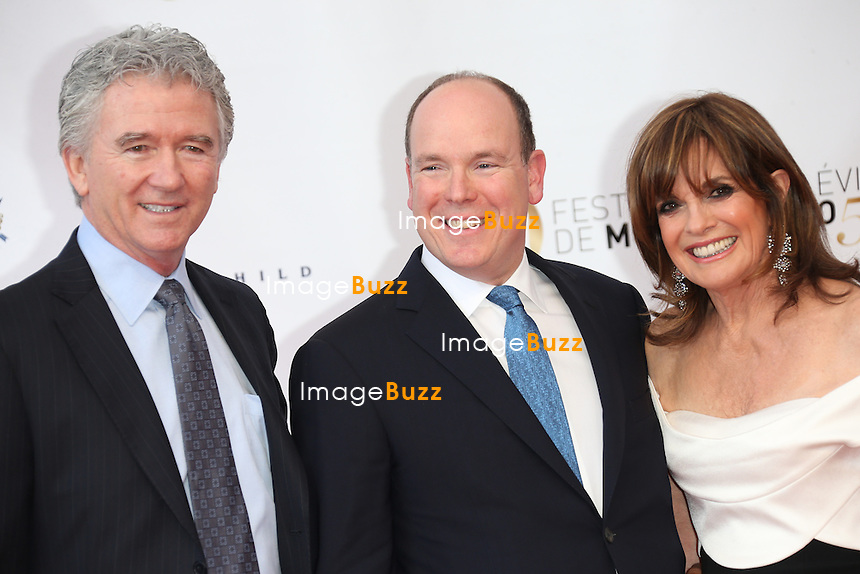CPE/Prince Albert with the cast of 'Dallas' attend the opening ceremony of the 53rd Monte Carlo TV Festival on June 9, 2013 in Monte-Carlo, Monaco.