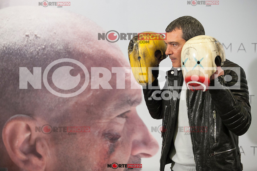 Spanish actor Antonio Banderas poses for the photographers during the `Automata&acute; film presentation in Madrid, Spain. January 20, 2015. (ALTERPHOTOS/Victor Blanco) /NortePhoto<br />