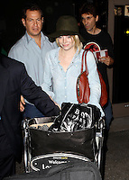 Emma Stone arrives at the International Los Angeles airport