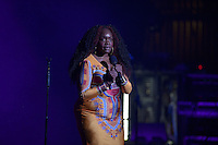 "MIAMI BEACH, FL - AUGUST 30: Spoken word poet Tamika ""Georgia ME"" Harper performs live as the open act for Jill Scott at Fillmore Miami Beach on August 30, 2016 in Miami Beach, Florida. Credit: MPI10 / MediaPunch"