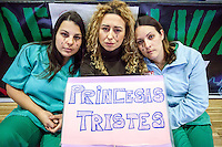 Inma, Sonia and Maria, 3 surgical nurses of the Hospital La Princesa, against the privatization of the public health in Spain