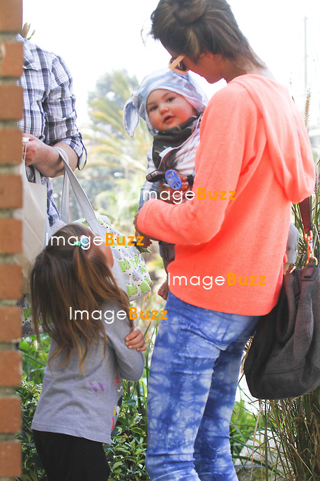 Alessandra Ambrosio with her son, Noah Phoenix Ambrosio Mazur in Los Angeles, on March 4, 2013.