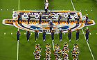 Jan. 7, 2013; The Notre Dame Marching Band performs before kick off of the 2013 BCS National Championship against Notre Dame and Alabama in Miami, Florida. Photo by Barbara Johnston/University of Notre Dame