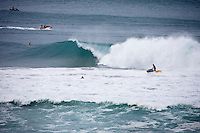 BEDE DURBIDGE (AUS) surfing a Kirra Point, the Superbank, Coolangatta , Queensland, Australia during swell wiped up by Cyclone Jasper.  Photo: joliphotos.com