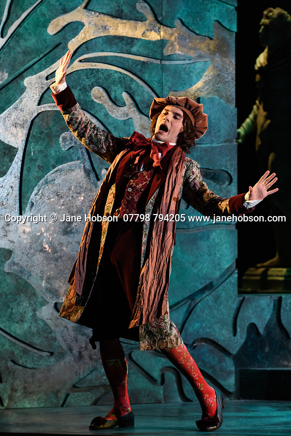 English Touring Opera presents PATIENCE, by Gilbert & Sullivan, at the Hackney Empire, prior to its UK tour. Picture shows: Bradley Travis (Bunthorne).