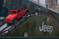 A Jeep Rubicon is seen on action at the 2013 New York International Auto Show in New York March 27, 2013. The 113th New York International Auto Show, which runs from March 29 to April 7, features 1,000 vehicles as well the latest in tech, safety and innovation. Photo by Eduardo Munoz Alvarez / VIEWpress.