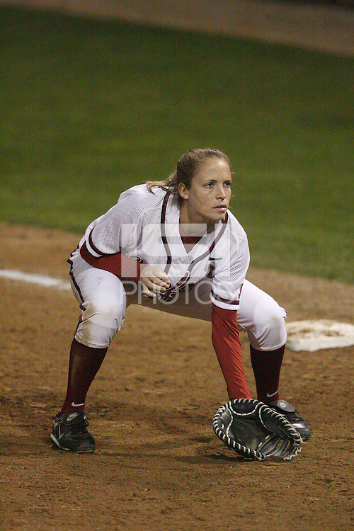 15 February 2008: Stanford Cardinal Melisa Koutz during Stanford's 11-0 win against the Wichita State Shockers in the Stanford Invitational I at the Boyd and Jill Smith Family Stadium in Stanford, CA.