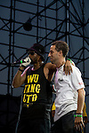 Rza and Matty C On Stage at the 8th Annual Rock The Bells Held on Governors Island, NY  9/3/11