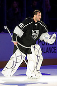 Jonathan Bernier (Los Angeles Kings, #45) as a first star of the game after ice-hockey match between Los Angeles Kings and Phoenix Coyotes in NHL league, March 3, 2011 at Staples Center, Los Angeles, USA. (Photo By Matic Klansek Velej / Sportida.com)