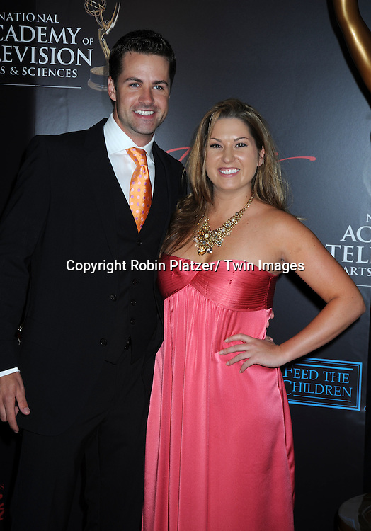 John Driscoll and girlfriend arriving to the 37th Annual Daytime Emmy Awards on June 27, 2010 .at the Hilton in Las Vegas, Nevada.