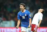 Fussball International  WM Qualifikation 2014   Italien - Daenemark                16.10.2012 Jubel Riccardo Montolivo (Italien)