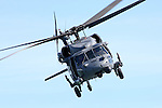 MH-60G Blackhawk CSAR Combat Search &amp; Rescue Helicopter (USAF 88-26107), operated by the California Air National Guard's 129th Rescue Wing out of Moffett Federal Airfield in California, in flight during the 2010 San Francisco Fleet Week Airshow.