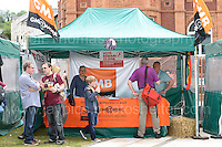 Staff who worked on the stalls during the Merthyr Rising Festival 2016 in Merthyr Tydfil on Saturday June 4th and Sunday June 5th 2016. <br /> <br /> <br /> Jeff Thomas Photography -  www.jaypics.photoshelter.com - <br /> e-mail swansea1001@hotmail.co.uk -<br /> Mob: 07837 386244 -