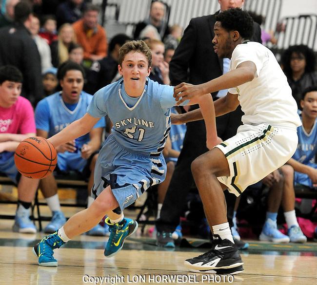 Skyline High School vs Huron High School boy's basketball at Huron High School, Friday, February 6, 2015.