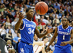 DeAndre Liggins gets charged with a foul in the second half of UK's Sweet 16 NCAA tournament game against Ohio State at the Prudential Center in Newark, New Jersey on Friday, March 25, 2011.  Photo by Britney McIntosh | Staff