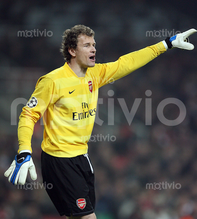 Fussball   International    Champions League   Saison 2007/2008    20.02.2008 FC Arsenal London  -  AC Mailand Arsenal Torwart Jens Lehmann
