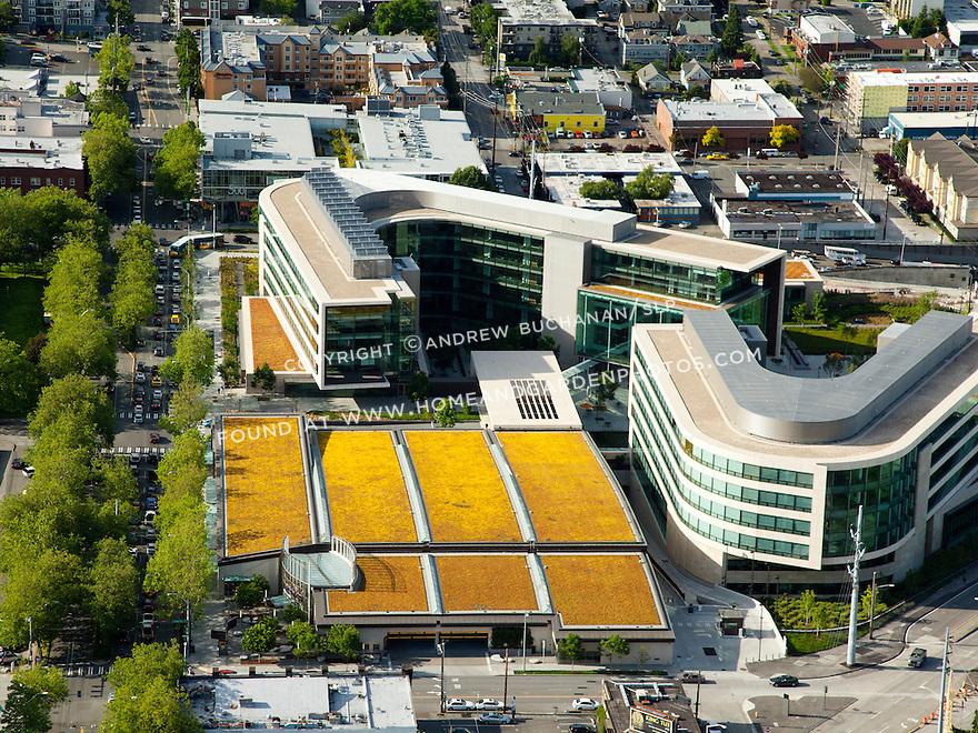 the Bill & Melinda Gates Foundation campus in the South Lake Union neighborhood; Seattle, WA