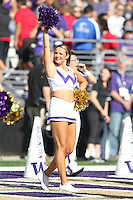 SEP 12, 2015:  University of Washington cheerleader Lexi Nunes vs Sacramento State at Husky Stadium in Seattle, Washington. Washington won over Sacramento State.