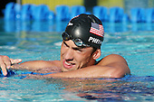 August 2, 2005; Irvine, CA, USA; .Michael Phelps at the Mutual of Omaha Duel in the Pool swim meet between Team USA and Australia Telstra Dolphins at the Woollett Aquatic Center in Irvine, California.  Team USA won the dual meet 190 -102..Mandatory Credit: Photo by Darrell Miho .© Copyright Darrell Miho