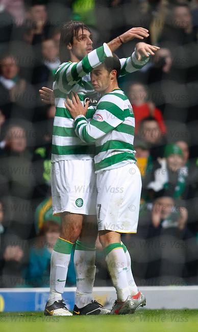 Georgios Samaras celebrates with Scott McDonald