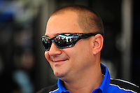 May 5, 2012; Commerce, GA, USA: NHRA top fuel dragster driver Brandon Bernstein during qualifying for the Southern Nationals at Atlanta Dragway. Mandatory Credit: Mark J. Rebilas-
