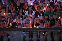 A candlelight vigil was held Wednesday May 5, 2010 at the University of Virginia in memory of former student Yeardley Love, a women's lacrosse player who was killed in her apartment earlier this week in Charlottesville, Va. George Huguely, 22, a member of UVa's nationally ranked men's lacrosse team, faces a first-degree murder charge in the slaying of Yeardley Love, also 22. (Credit Image: © Andrew Shurtleff/)..