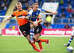 St Johnstone v Dundee United....01.09.12      SPL  .Rowan Vine and Richie Ryan.Picture by Graeme Hart..Copyright Perthshire Picture Agency.Tel: 01738 623350  Mobile: 07990 594431