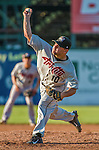 1 September 2014: Tri-City ValleyCats pitcher Brandon McNitt on the mound against the Vermont Lake Monsters at Centennial Field in Burlington, Vermont. The ValleyCats defeated the Lake Monsters 3-2 in NY Penn League action. Mandatory Credit: Ed Wolfstein Photo *** RAW Image File Available ****