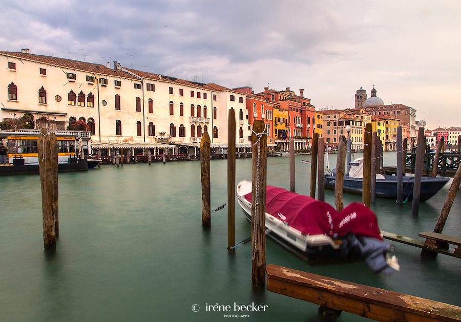 Ferrovia water bus stop at Scalzi bridge. Venice, Italy