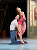 The Car Man <br /> by Matthew Bourne <br /> at Sadler's Wells, London, Great Britain <br /> press photocall<br /> 16th July 2015 <br /> <br /> Act 1 Leaving Duet with Lana and Luca <br /> <br /> Zizi Strallen as Lana<br /> Chris Trenfield as Luca <br /> <br /> <br /> Photograph by Elliott Franks <br /> Image licensed to Elliott Franks Photography Services