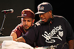 Tony Touch and Dj Preimier at Rock Steady Crew 36th Year Anniversary Celebration at Central Park's SummerStage, NY