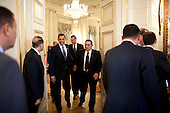 Cairo, Egypt  - June 4, 2009 -- United States President Barack Obama meets with Egyptian President Hosni Mubarak of Egypt in Cairo, Egypt, Thursday, June 4, 2009. .Mandatory Credit: Pete Souza - White House via CNP