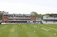 General view of play looking towards the pavilion during Middlesex CCC vs Essex CCC, Specsavers County Championship Division 1 Cricket at Lord's Cricket Ground on 21st April 2017