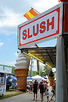 Slush cones concession at Cheshire Fair in Swanzey, New Hampshire USA