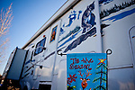 "Holiday decorations at the Desert Rose RV Park which is filled with seasonal ""workampers"" for the Amazon warehouse in Fernley, Nevada, December 13, 2011. CREDIT: Max Whittaker/Prime for The Wall Street Journal.AMAZONTOWN"
