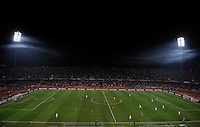Fog rolls in on the Royal Bafokeng Stadium as USA play Ghana. Ghana defeated the USA 2-1 in overtime in the 2010 FIFA World Cup at Royal Bafokeng Stadium in Rustenburg, South Africa on June 26, 2010.