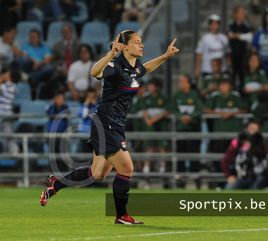 Uefa Women 's Champions League Final 2010 at  Coliseum Alfonso Perez in Getafe , Madrid : Olympique Lyon - Turbine Potsdam : Simone Gomes Jatoba.foto DAVID CATRY / Vrouwenteam.be