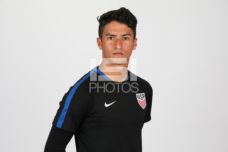 Bradenton, FL - Monday April 17, 2017: U.S. Soccer U-17 head shots at IMG Academy.