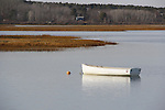 Boat anchored at Pine Point Scarborough Maine