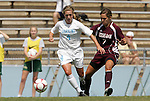 12 September 2009: North Carolina's Meghan Klingenberg (4) and Texas A&M's Rachel Shipley (7). The University of North Carolina Tar Heels defeated the Texas A&M University Aggies 2-0 at Fetzer Field in Chapel Hill, North Carolina in an NCAA Division I Women's college soccer game.
