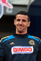 Sebastien Le Toux (11) of the Philadelphia Union. The New York Red Bulls defeated the Philadelphia Union 2-1 during a Major League Soccer (MLS) match at Red Bull Arena in Harrison, NJ, on March 30, 2013.