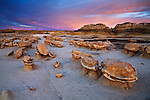 "Sunset on the ""Egg Garden"". Bisti/De-Na-Zin Wilderness in northwest New Mexico."