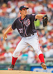 29 May 2016: Washington Nationals starting pitcher Stephen Strasburg on the mound against the St. Louis Cardinals at Nationals Park in Washington, DC. Strasburg earned his 9th consecutive win of the season without a loss, setting a new club record as the Nationals defeated the Cardinals 10-2 to split their 4-game series. Mandatory Credit: Ed Wolfstein Photo *** RAW (NEF) Image File Available ***