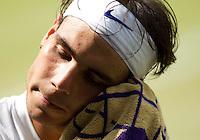 RAFAEL NADAL (ESP) (1) against NOVAK DJOKOVIC (SRB) (2) in the Final of the Gentlemen's SIngles. Novak Djokovic beat Rafael Nadal 6-4 6-1 1-6 6-3..Tennis - Grand Slam - Wimbledon - AELTC - London- Day 13 - Sun July 3rd 2011..© AMN Images, Barry House, 20-22 Worple Road, London, SW19 4DH, UK..+44 208 947 0100.www.amnimages.photoshelter.com.www.advantagemedianetwork.com.