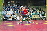 Peter Barker (ENG) vs. Nick Matthew (ENG) in the quarterfinals of the 2014 METROsquash Windy City Open held at the University Club of Chicago in Chicago, IL on March 1, 2014