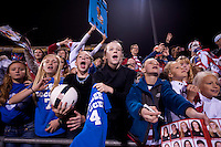 Fans. The USWNT tied New Zealand, 1-1, at an international friendly at Crew Stadium in Columbus, OH.