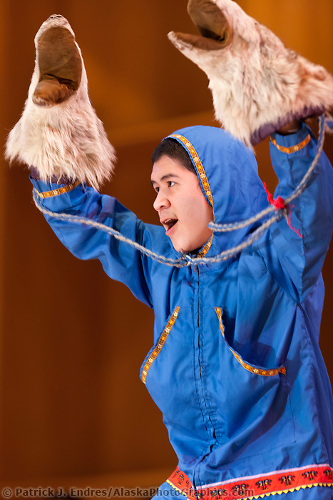 Nunamiut Dancers perform at the 2009 Festival of Native Arts, Fairbanks, Alaska. The festival is one of interior Alaska's greatest celebrations of Alaska Native culture.