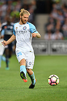 Melbourne, 17 December 2016 - LUKE BRATTAN (26) of Melbourne City kicks the ball in the round 11 match of the A-League between Melbourne City and Melbourne Victory at AAMI Park, Melbourne, Australia. Victory won 2-1 (Photo Sydney Low / sydlow.com)