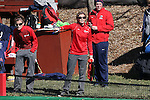 15 November 2014: Liberty head coach Jodi Murphy. The University of North Carolina Tar Heels hosted the Liberty University Flames at Francis E. Henry Stadium in Chapel Hill, North Carolina in a 2014 NCAA Division I Field Hockey Tournament First Round game. UNC won the game 2-1.
